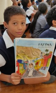 Perivale Primary Grade 3 pupil Manier Jamat excited about his new Fatima book.
