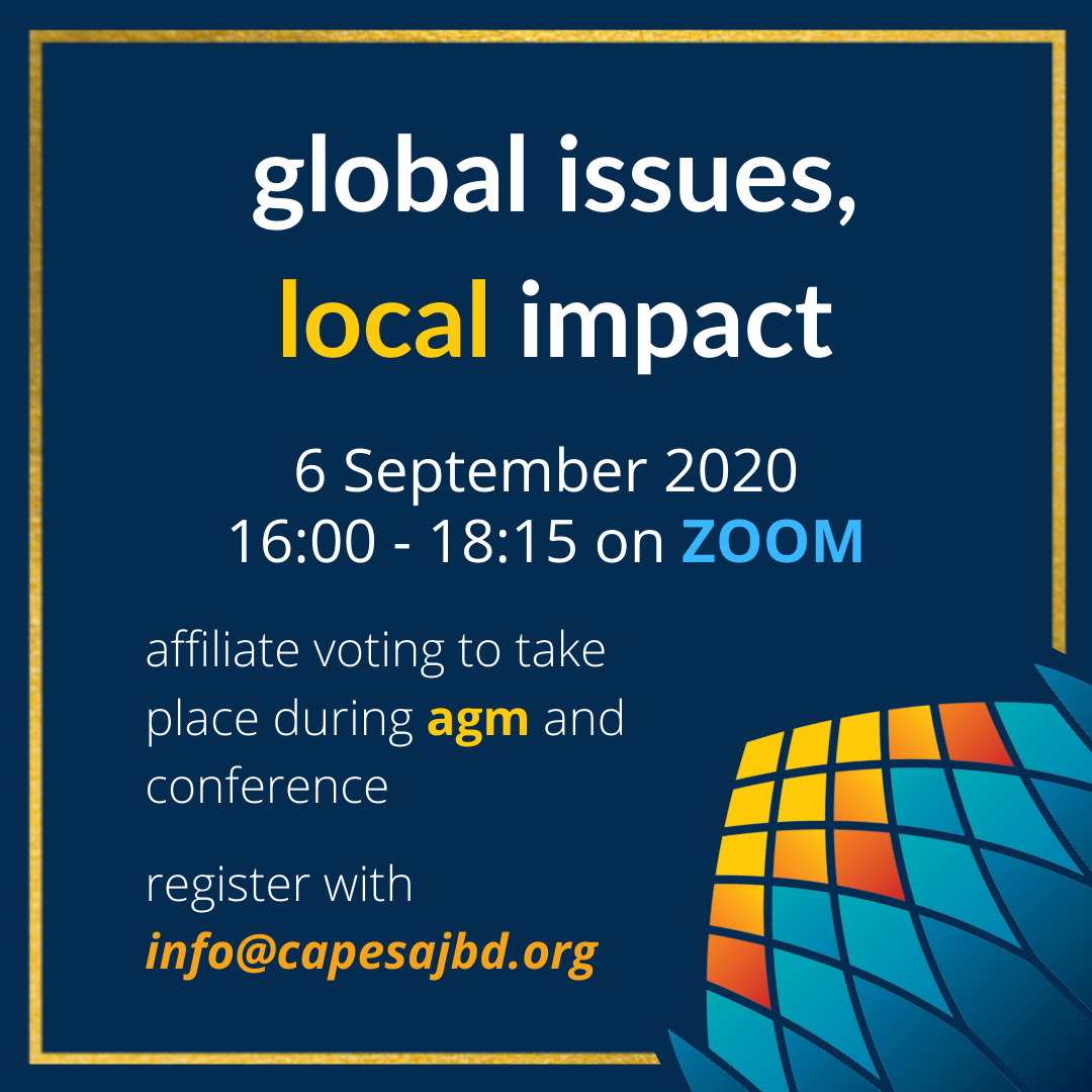 Cape SAJBD Conference 2020: Global Issues, Local Impact