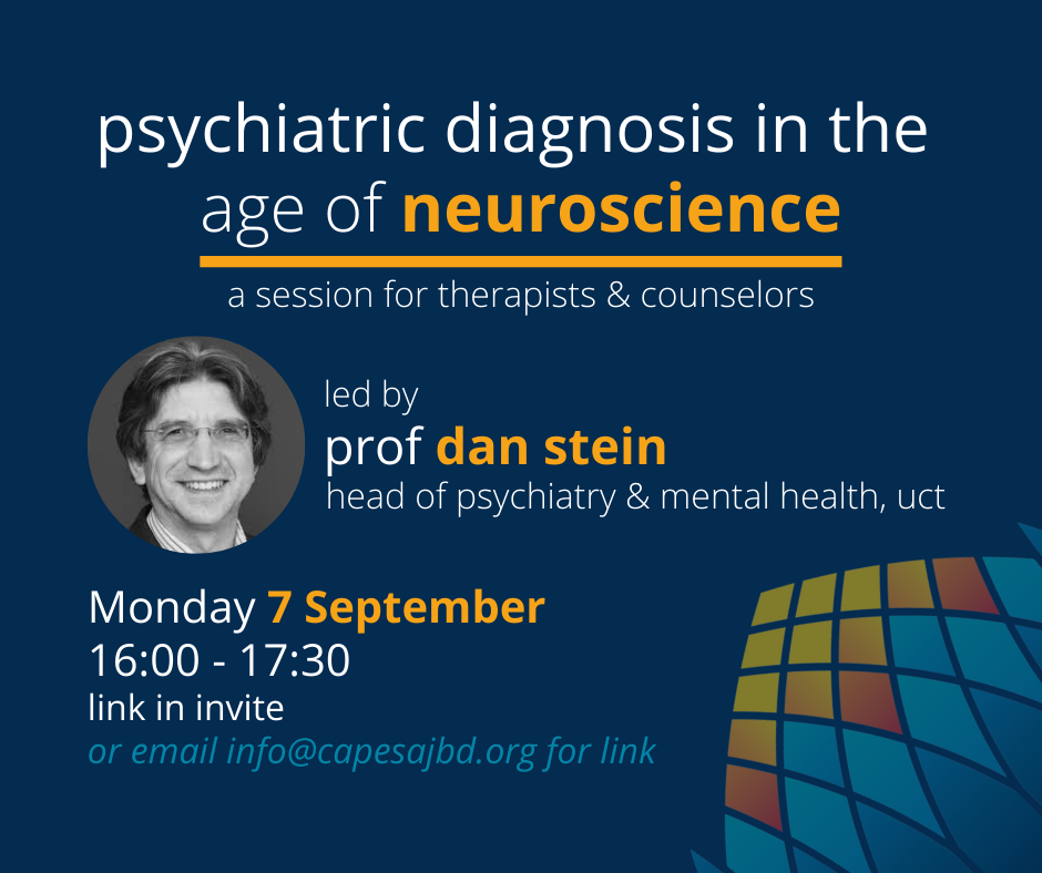 Psychiatric Diagnosis in the Age of Neuroscience with Professor Dan Stein