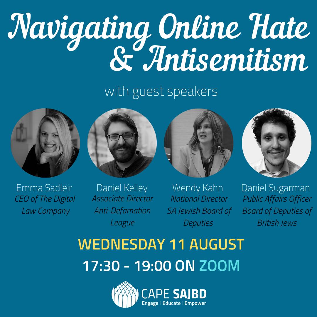 Navigating Online Hate & Antisemitism Webinar
