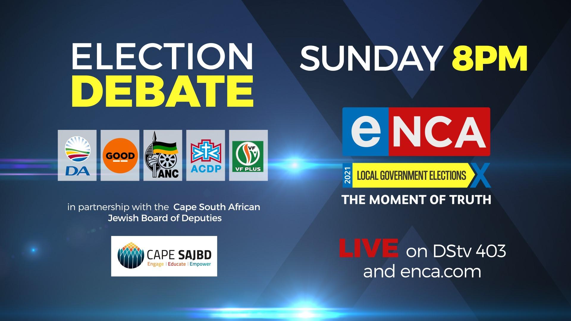 Cape SAJBD and eNCA Election Debate